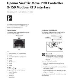 uponor product info smatrix move pro modbus rtu en 1088472 12 2016 [ 1059 x 1497 Pixel ]