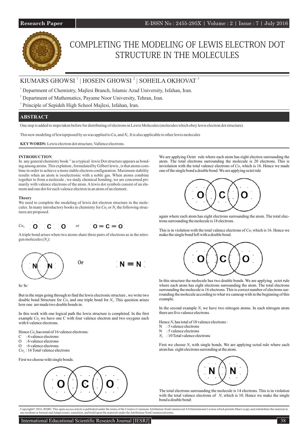 hight resolution of completing the modeling of lewis electron dot structure in the molecules by international educational scientific research journal issuu