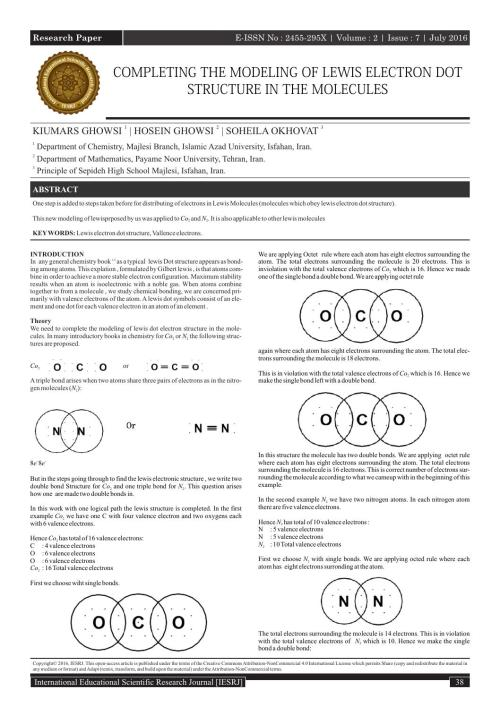 small resolution of completing the modeling of lewis electron dot structure in the molecules by international educational scientific research journal issuu