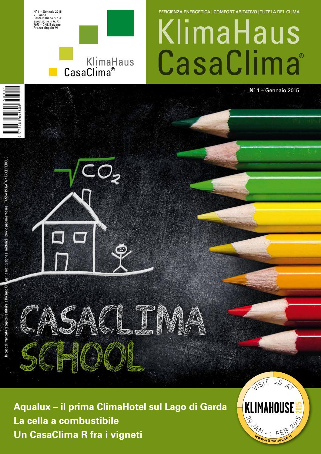 Rivista CasaClima 01 2015 by KlimaHaus Agentur Agenzia