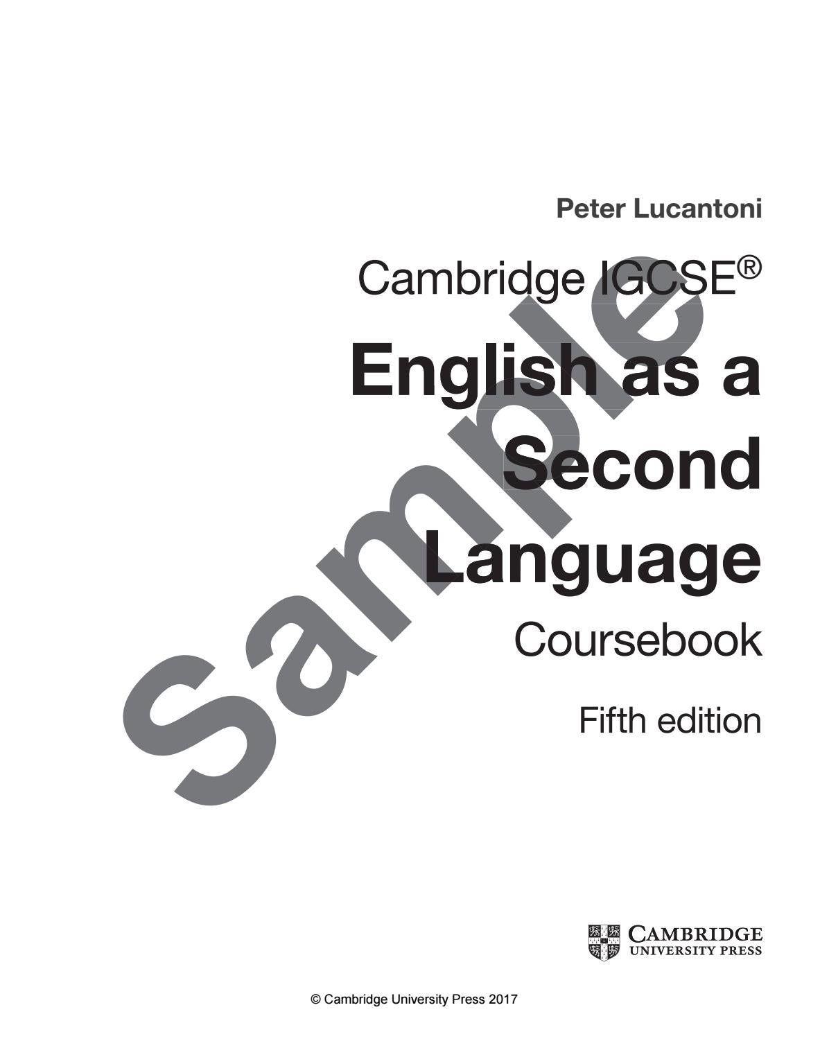 Preview Cambridge IGCSE English as a Second Language by