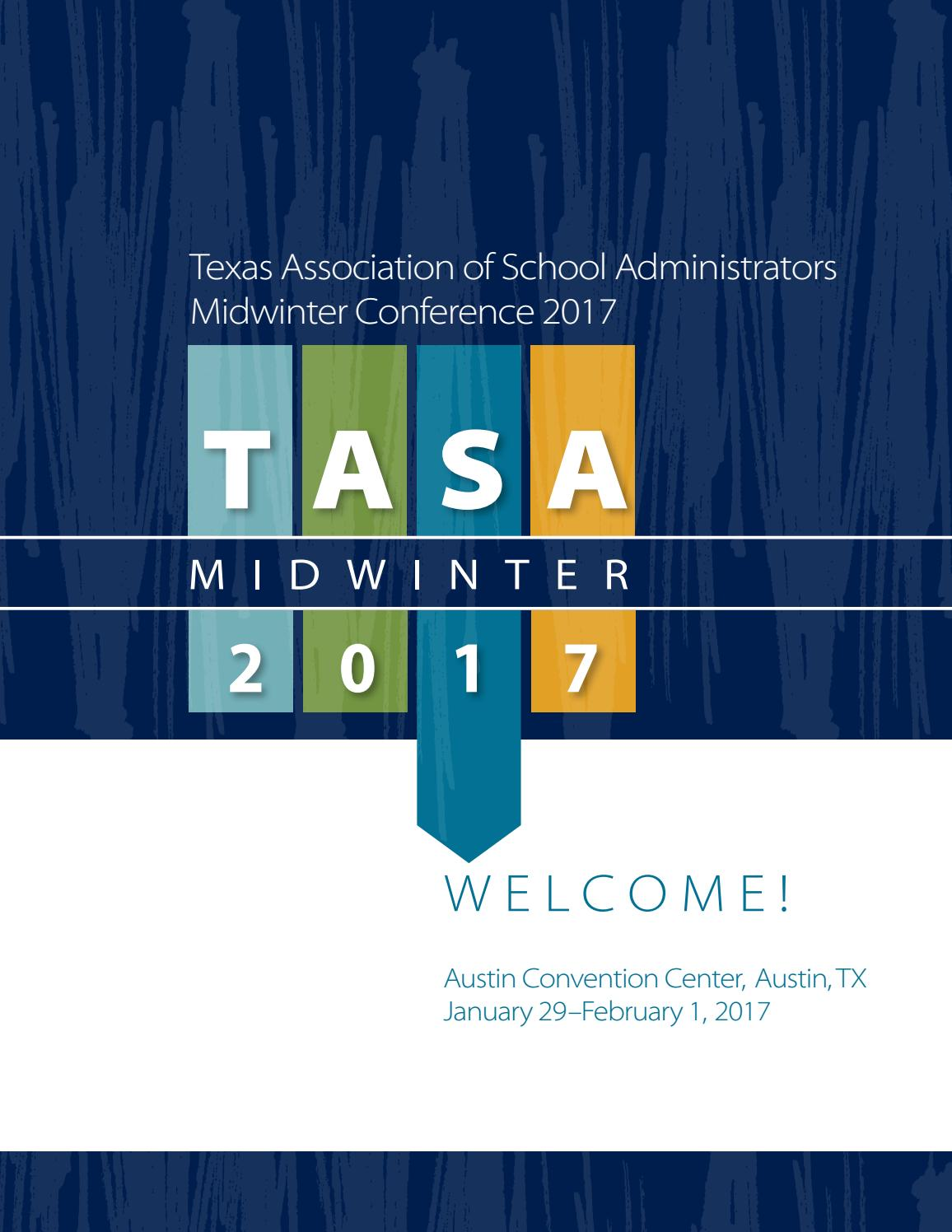 hight resolution of 2017 midwinter conference program by texas association of school administrators issuu