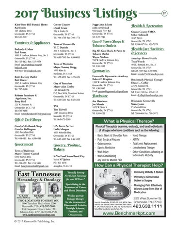 Greene County Partnership Directory 2017 By The