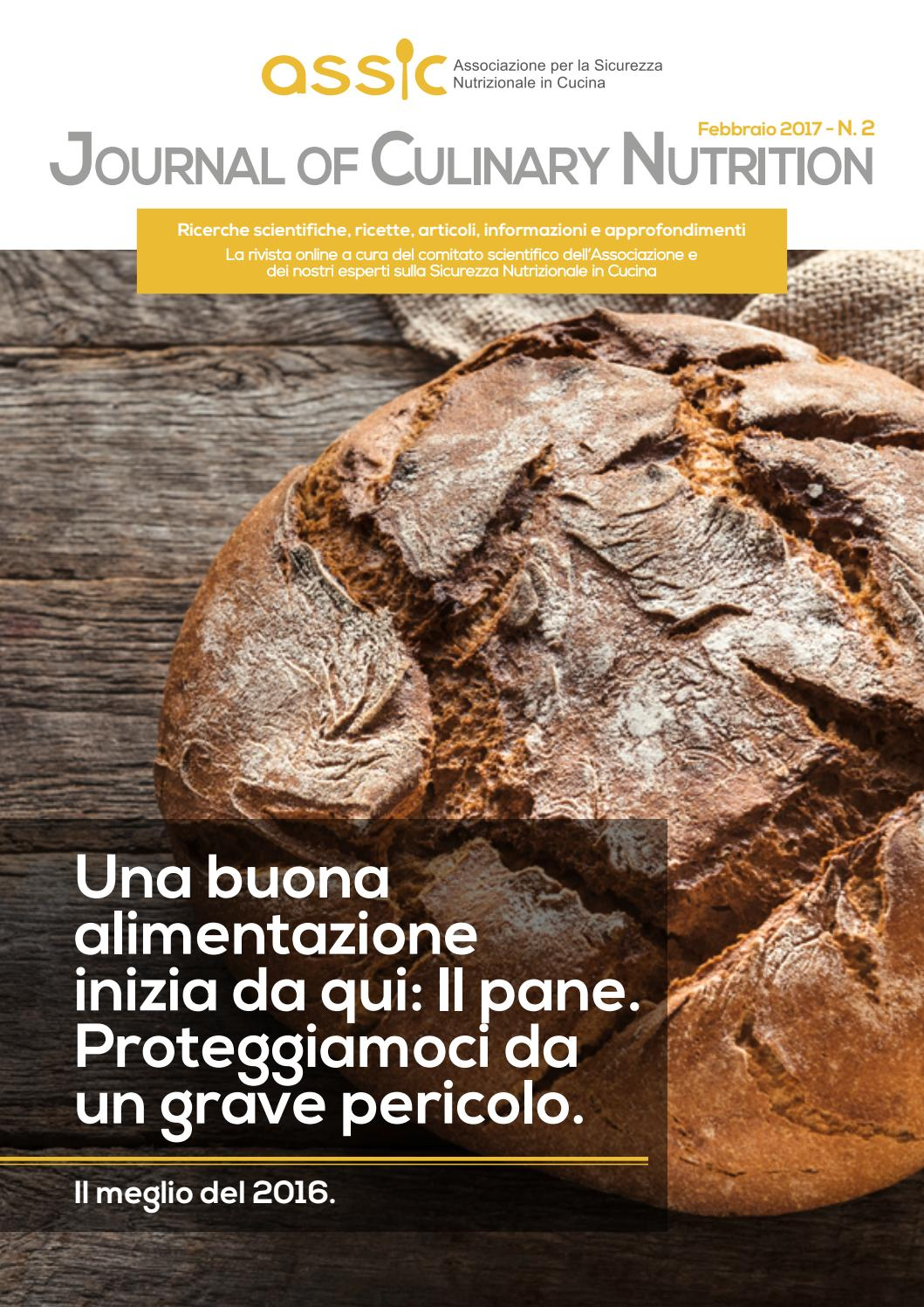 Cucina Evolution Chiara Manzi Ricette Journal Of Culinary Nutrition Febbraio 2017 By