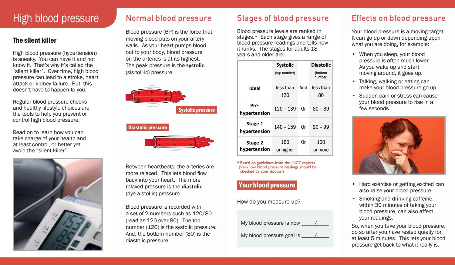 High Blood Pressure Brochure 634 By Pritchett & Hull Associates