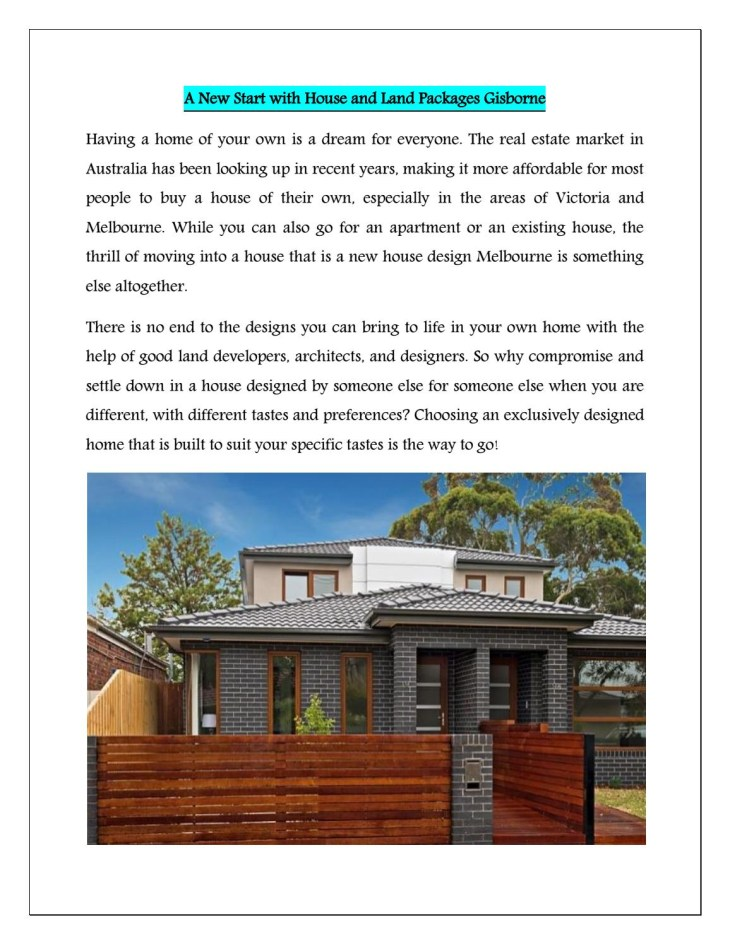House and Land Packages in Gisborne By Pillar Homes