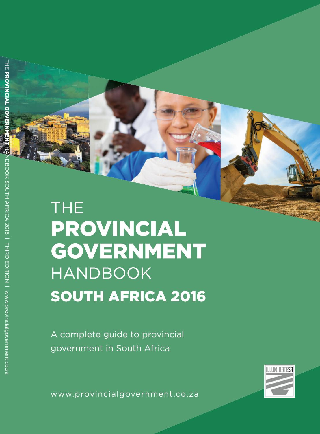 Provincial Government Handbook  South Africa 2016 by Yes Media  Issuu