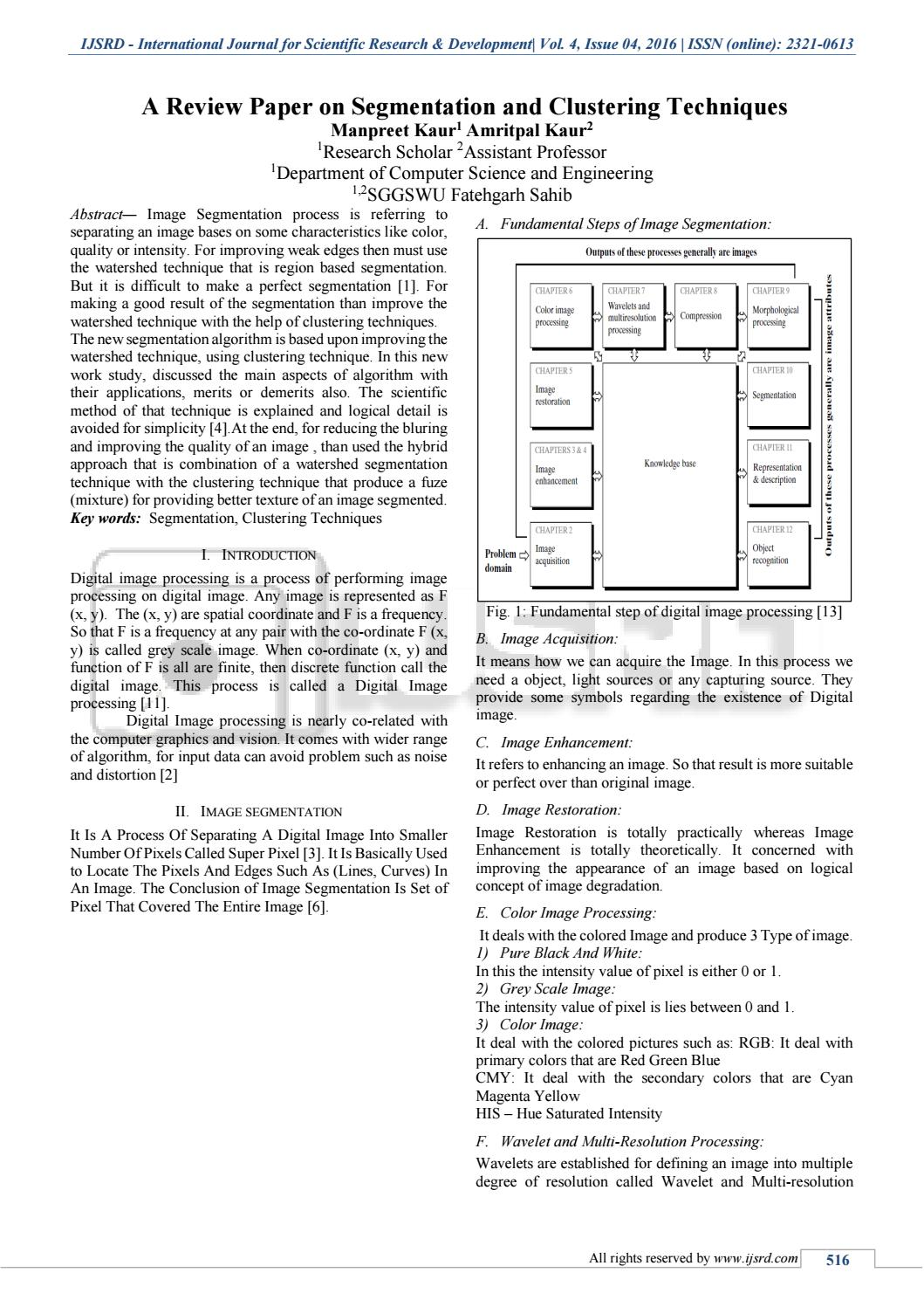 A Review Paper on Segmentation and Clustering Techniques