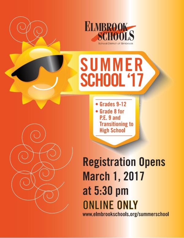 Elmbrook Schools 2017 Summer School Brochure - High