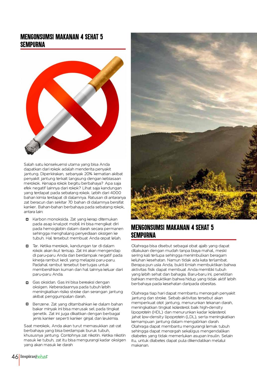 Nikotin Merupakan Zat Berbahaya Yang Dapat Ditemukan Pada : nikotin, merupakan, berbahaya, dapat, ditemukan, Majalah, Inspirasi, Sehat, Edisi, Agustus, September, Issuu