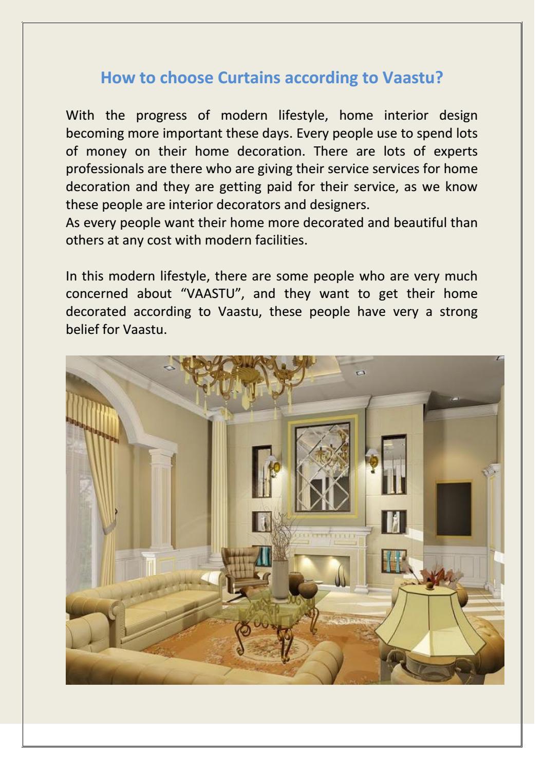how to choose curtains according to vaastu by raju narula - issuu