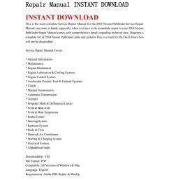 2004 nissan pathfinder service repair manual instant download by ksjenfh76 issuu [ 1059 x 1497 Pixel ]