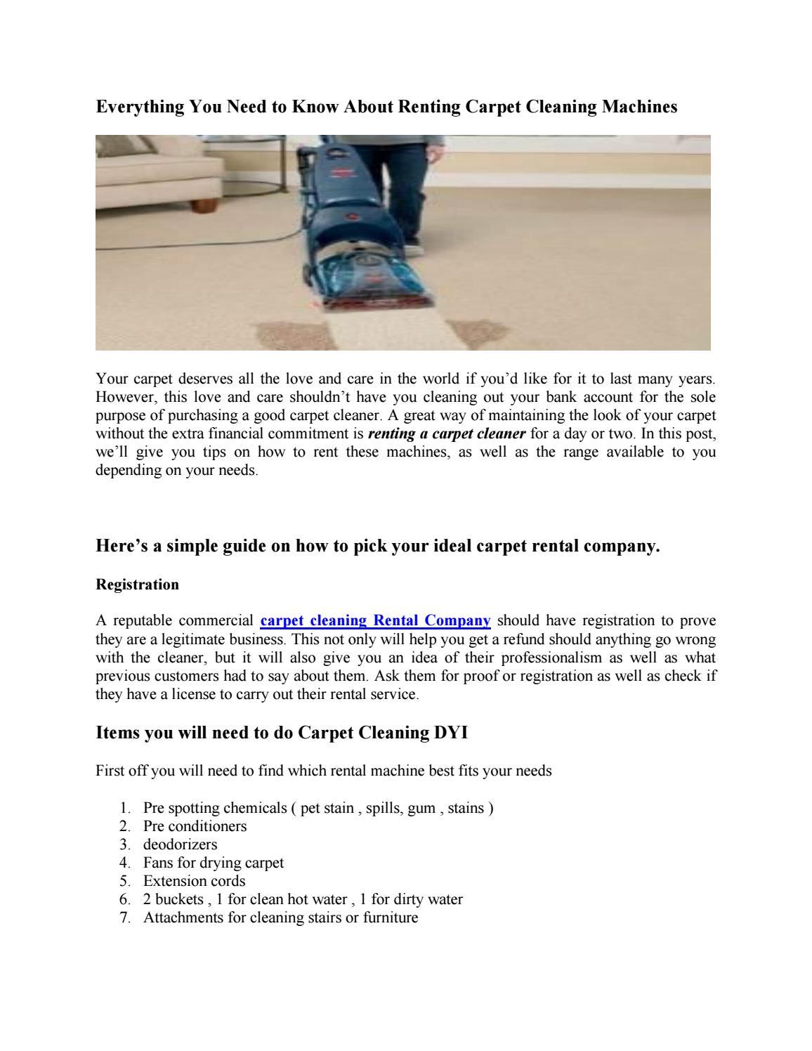Lowes Carpet Cleaner Rental By Lowes Tool Rental Issuu