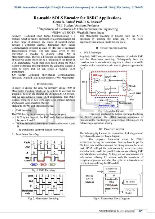 small resolution of re usable sols encoder for dsrc applications by international journal for scientific research and development ijsrd issuu