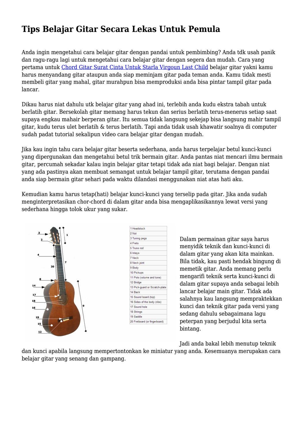 Kunci Gitar Main Hati : kunci, gitar, Kunci, Gitar, Child