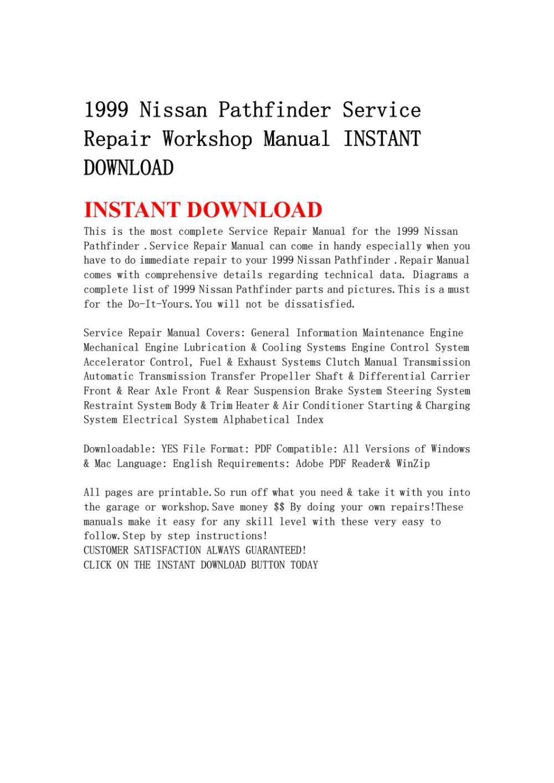 medium resolution of 1999 nissan pathfinder service repair workshop manual instant download by ksjefkmsef87 issuu