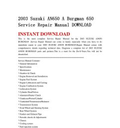 2003 suzuki an650 a burgman 650 service repair manual download by ksjefkmsef87 issuu [ 1058 x 1497 Pixel ]