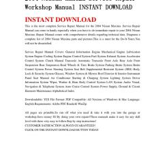2004 Nissan Maxima Parts Diagram Jaguar Wiring Service Repair Workshop Manual Instant Download By Ksjefkmsef87 Issuu