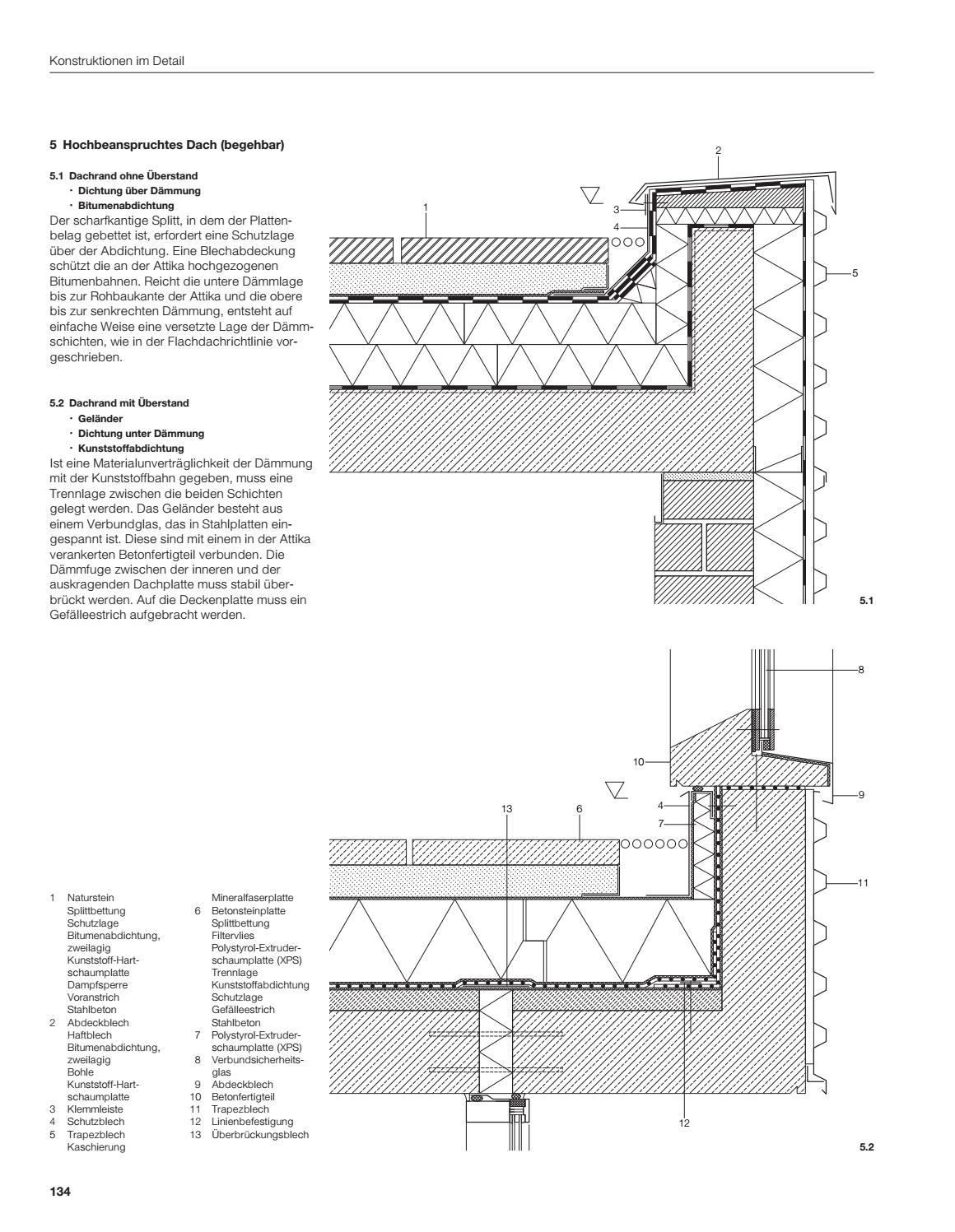 Favorit Dach Kies Aufbau   Detailseite Planungsatlas Hochbau Einschalige SK79