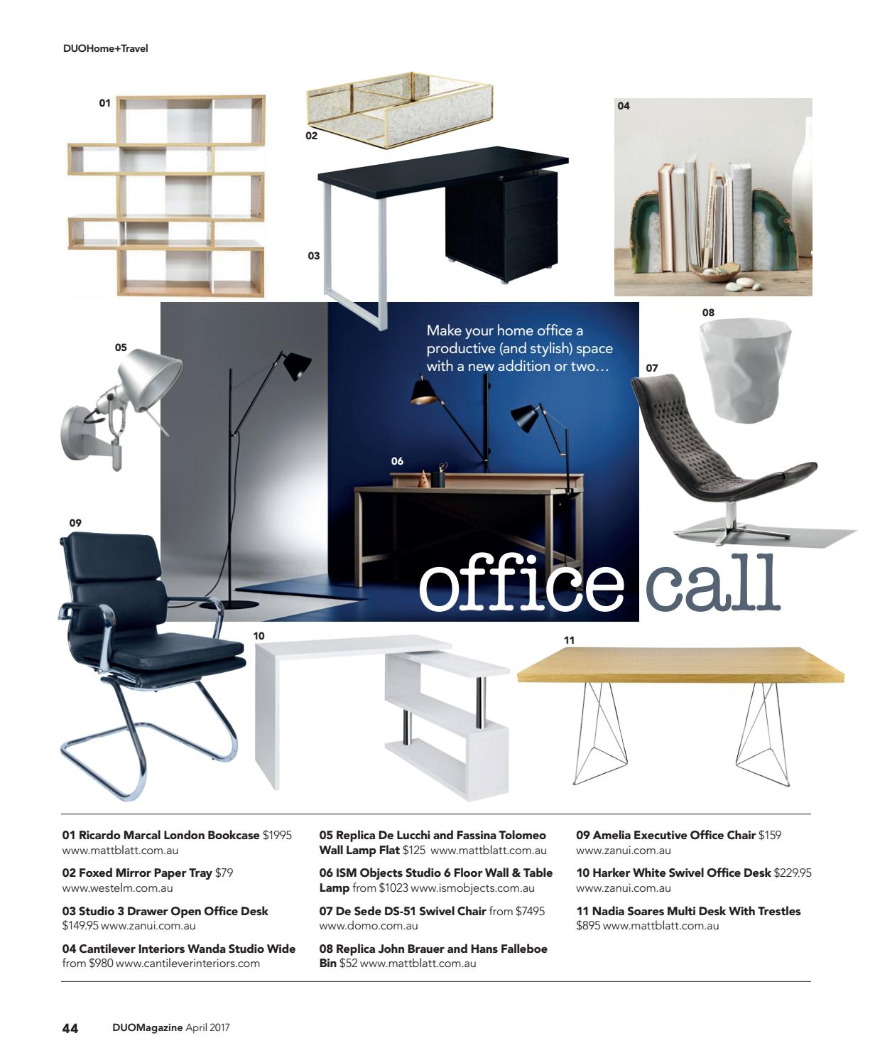 zanui desk chair tall high duo magazine april 2017 by issuu