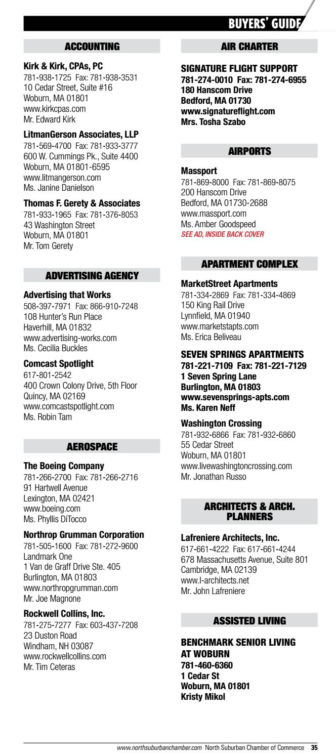 North Suburban Chamber of Commerce 2017 Business Directory