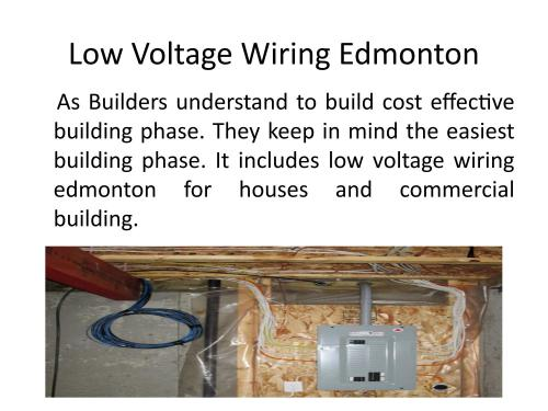 small resolution of low voltage wiring edmonton