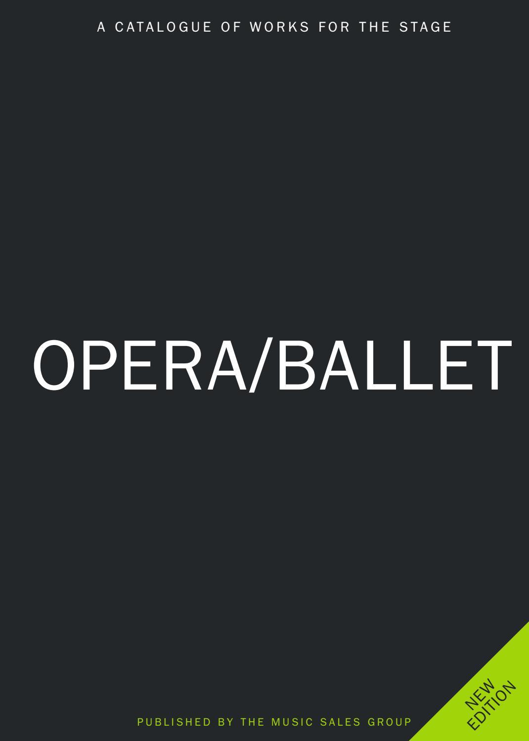 music sales opera ballet catalogue 2017