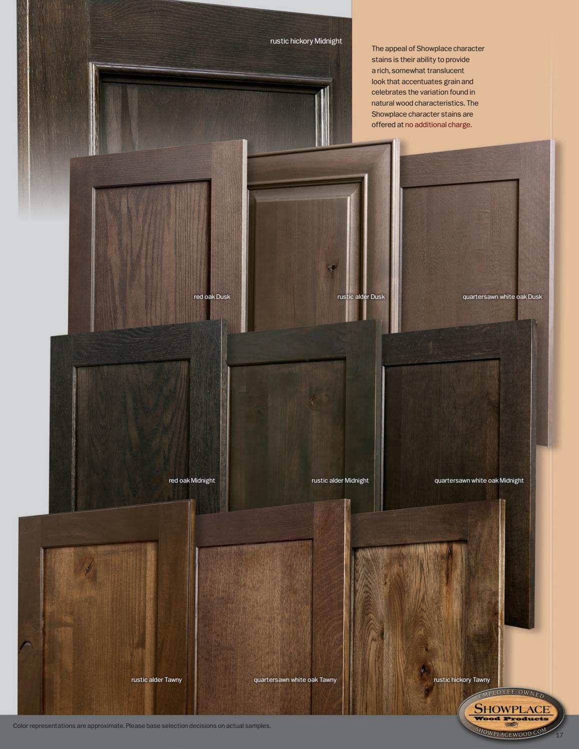 Showplace cabinetry Styles Woods  Finishes booklet by