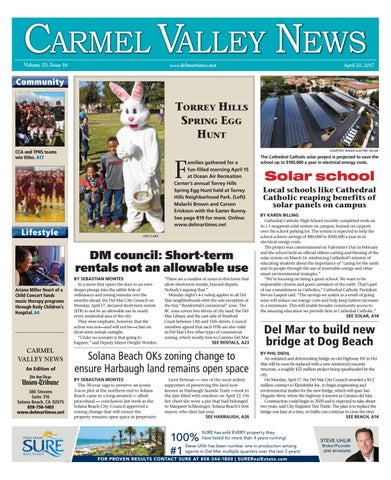 Carmel Valley News 04 20 17 By MainStreet Media Issuu