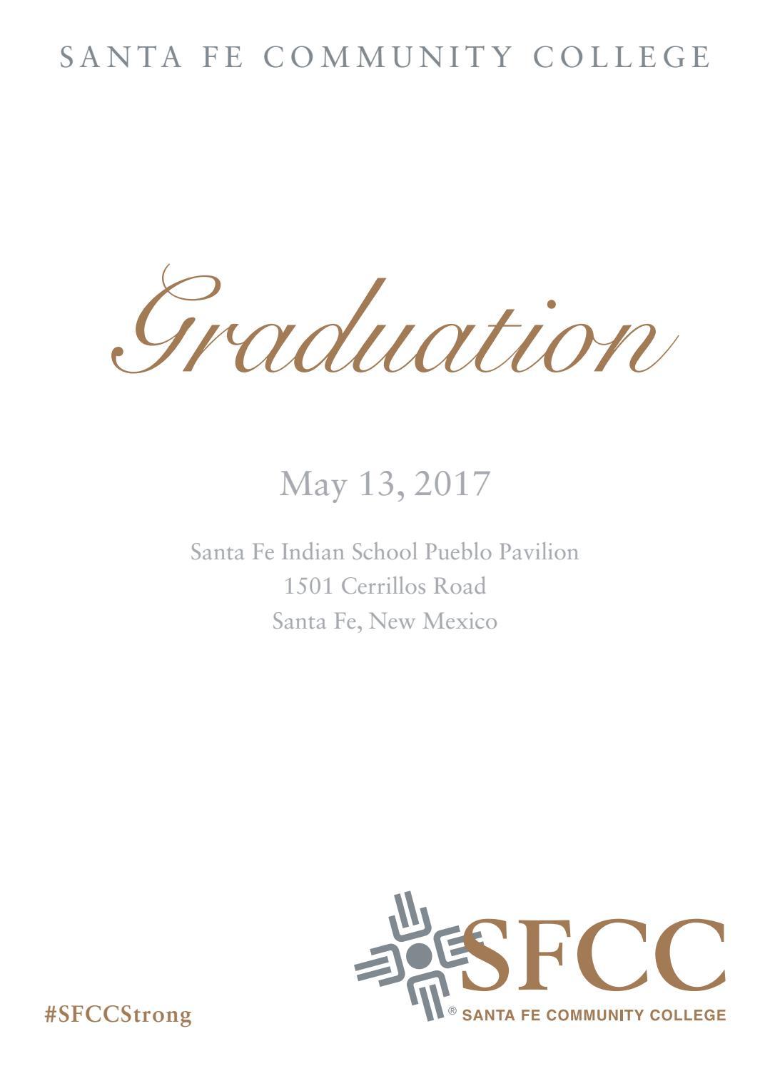 2017 SFCC Graduation Program by Santa Fe Community College