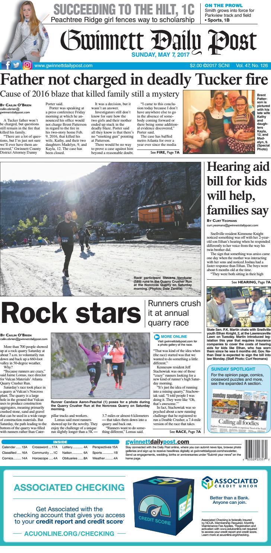 Gwinnett Daily Post — May 7 2017 By Gwinnett Daily Post Issuu