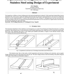 experimental investigation of tig welding for stainless steel using design of experiment by grd journals issuu [ 1156 x 1496 Pixel ]