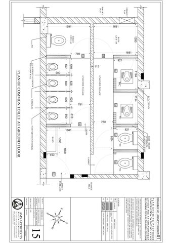 Common toilet brick work plan by AMS Architects  Issuu