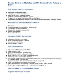 syllabus for 8051 microcontroller training course content in delhi by aptron delhi issuu [ 1156 x 1496 Pixel ]