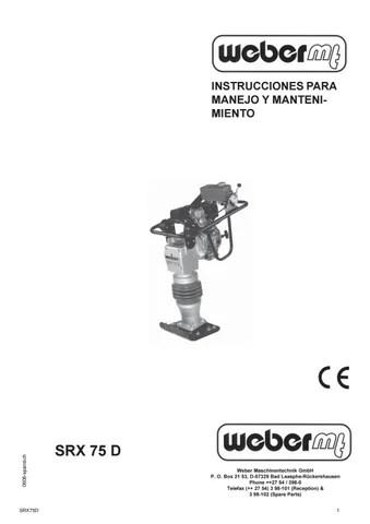 Manual de uso y mantenimiento SRX 75D by Fernando