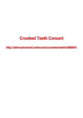 Jadwal Film Xxi Mall Panakkukang Makassar : jadwal, panakkukang, makassar, Crooked, Teeth, Concert, Frank, Seamons, Issuu