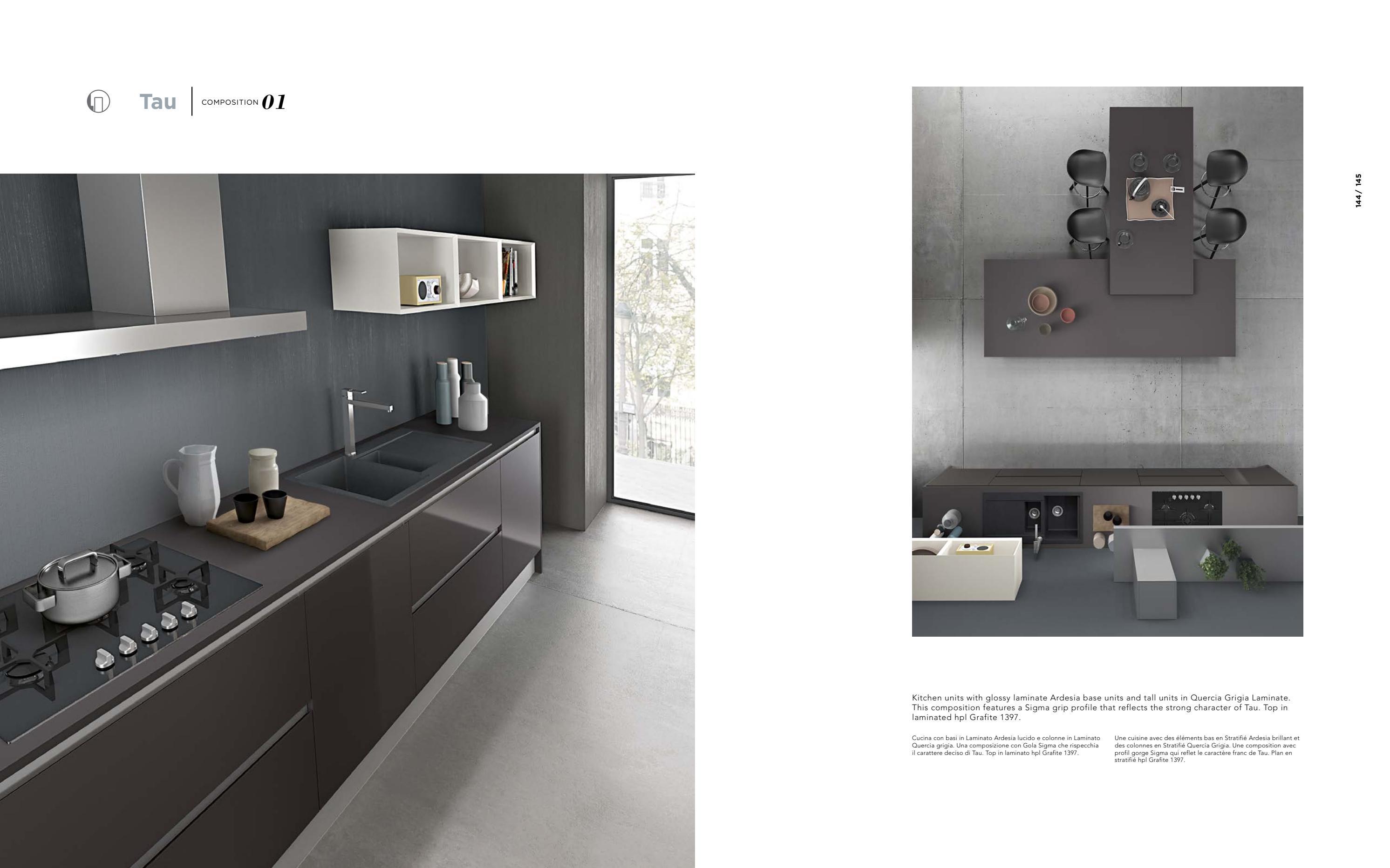 Top Cucina Ardesia | Piano Cucina In Cemento Idee Di Design Per La ...