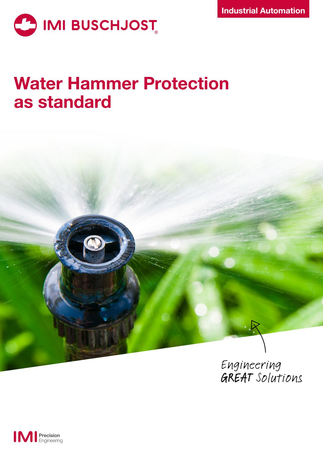 Anti Water Hammer By IMI Precision Engineering Issuu