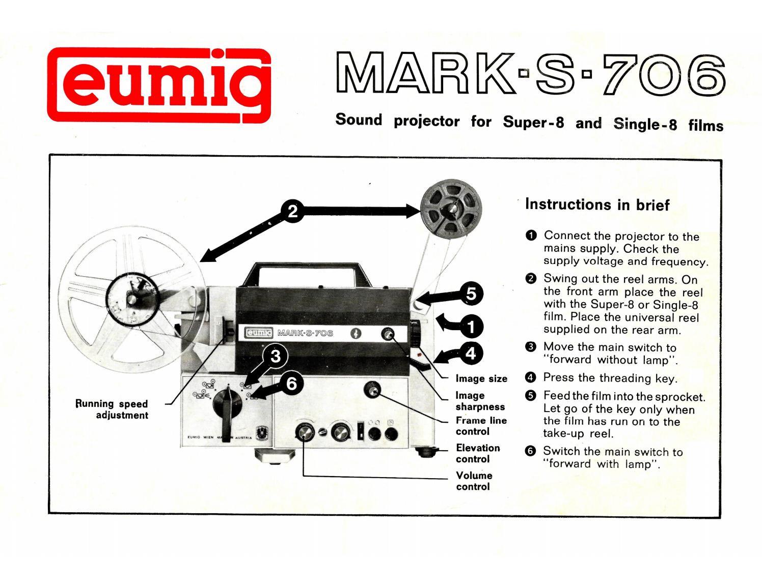 Eumig Mark S 710d Manual