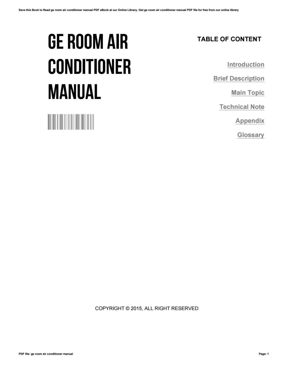 medium resolution of ge air conditioner schematic