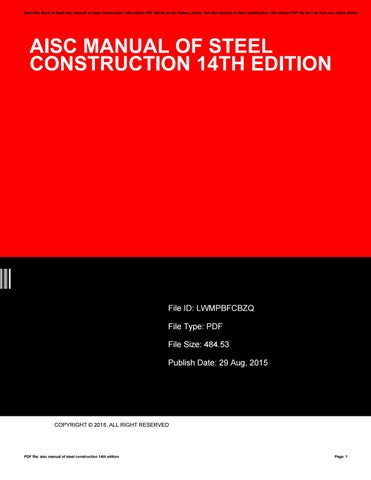 Steel manual construction pdf of