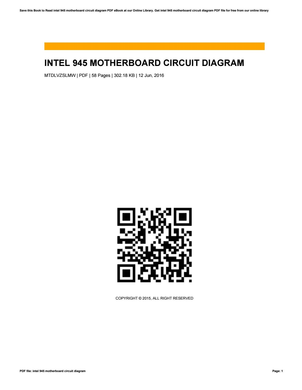 hight resolution of circuit diagram of intel 945 motherboard
