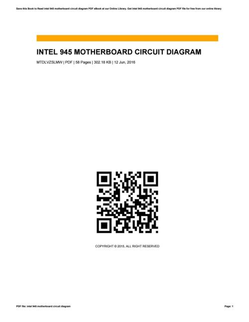 small resolution of circuit diagram of intel 945 motherboard