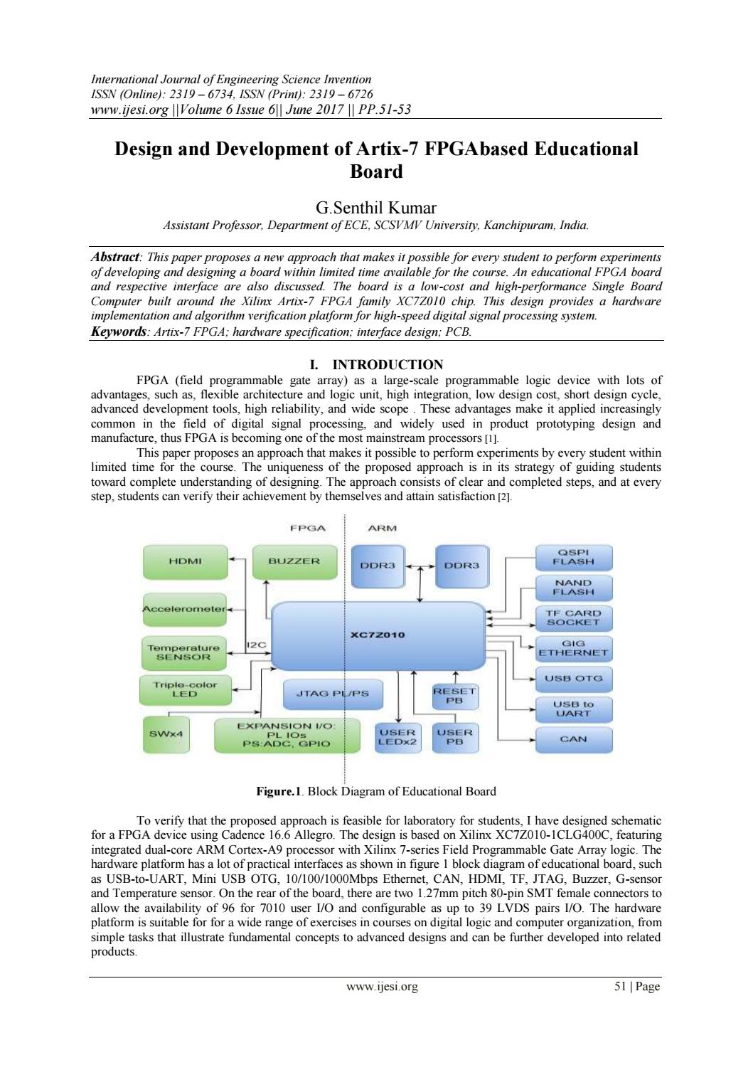 hight resolution of design and development of artix 7 fpgabased educational board by invention journals issuu