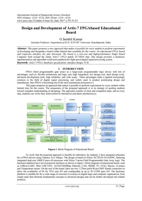 small resolution of design and development of artix 7 fpgabased educational board by invention journals issuu