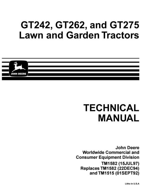 small resolution of john deere gt275 lawn garden tractor service repair manual by ujfjisefjj issuu