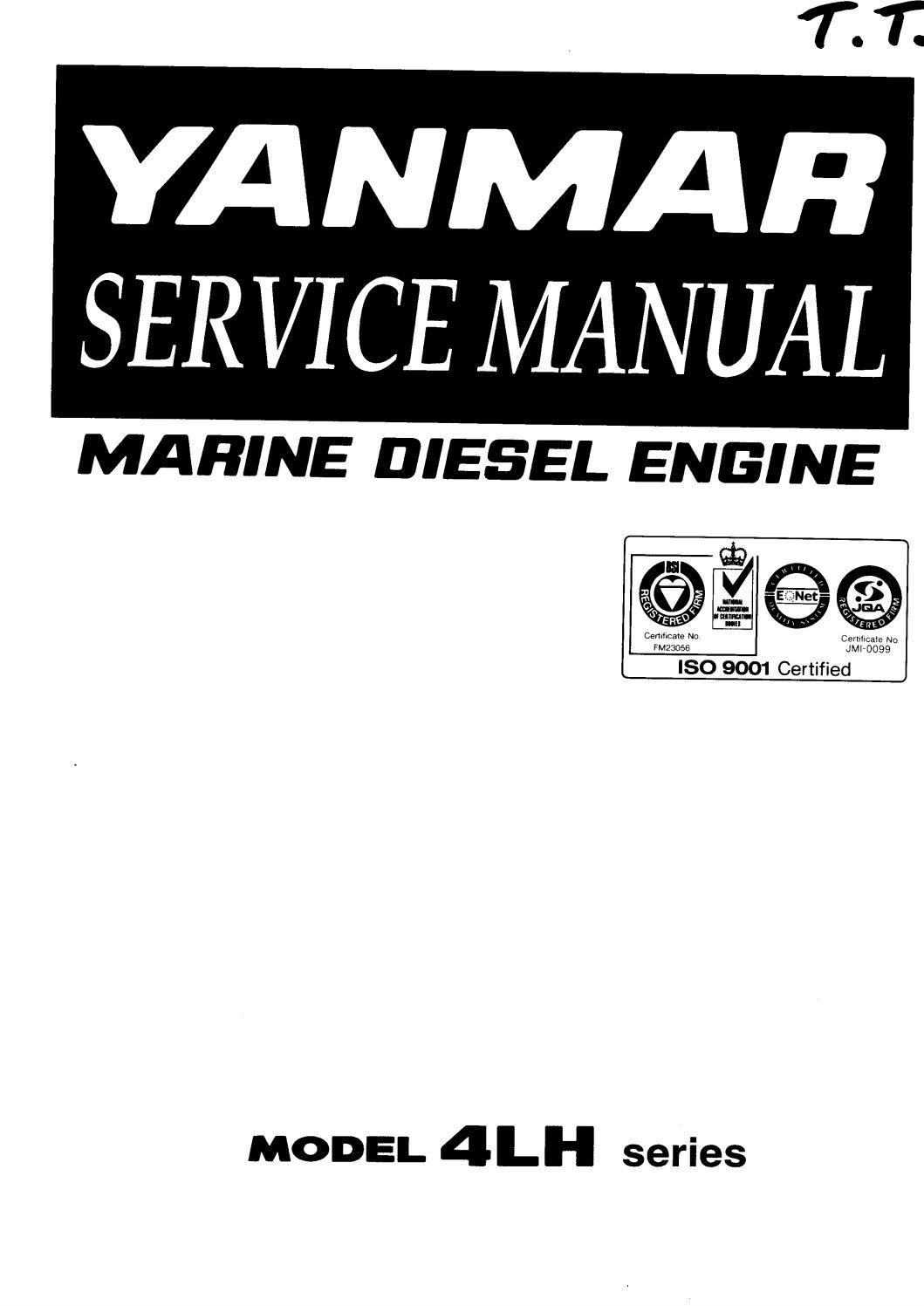 Yanmar 4lh dte series marine diesel engine service repair