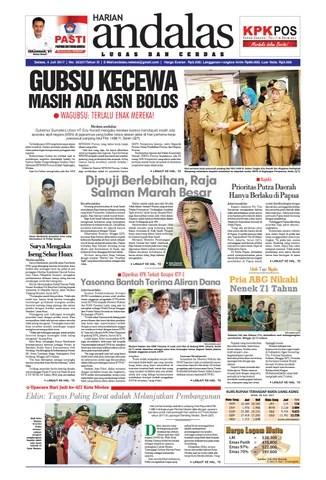 Epaper Andalas Edisi Selasa 4 Juli 2017 By Media Andalas Issuu
