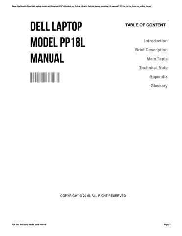 Bestseller: Dell Laptop Manuals Free
