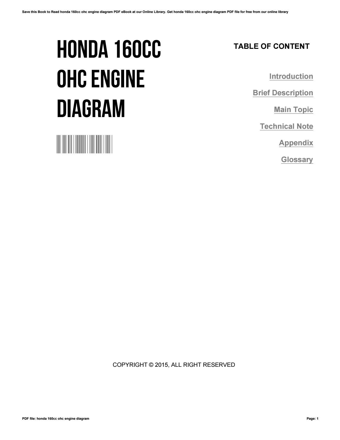 hight resolution of honda ohc 160cc engine diagram